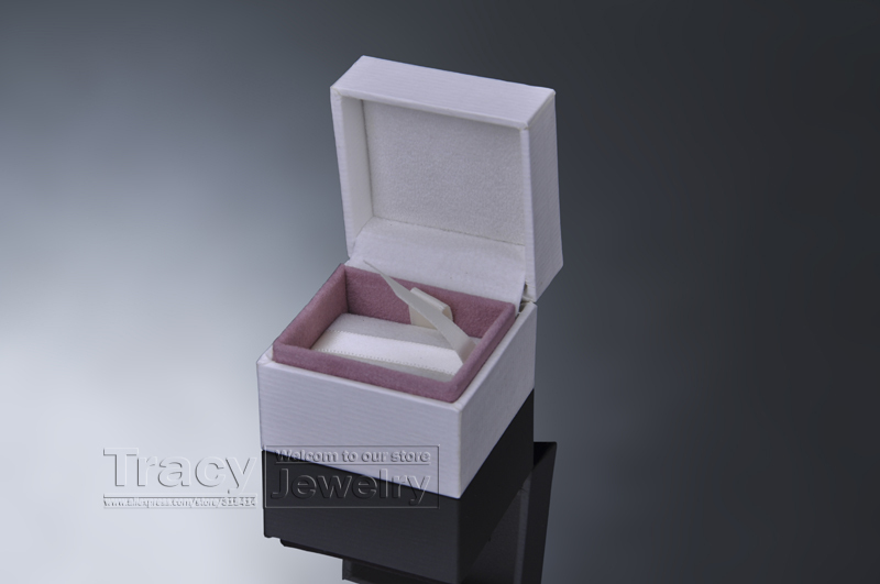1 5*5*4CM Factory Price Jewelry gift Box Fit European Earring Brand logo stamped - Tracy store