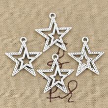 Buy 30pcs Charms star pentagram 23*20mm Antique pendant fit,Vintage Tibetan Silver,DIY bracelet necklace for $1.83 in AliExpress store