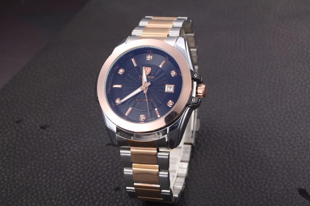 Мужские кварцевые бизнес часы из нержавеющей стали золотые часы наручные часы Тонкий мужские часы лучший бренд Военные Часы швейцарские водонепроницаемые
