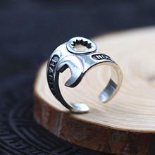 Мода ювелирные изделия Стерлингового Серебра s925 серебряное кольцо Ретро личность открытый ключ кольцо мужчин Прохладный кольцо Тайский серебро Панк кольцо(China (Mainland))