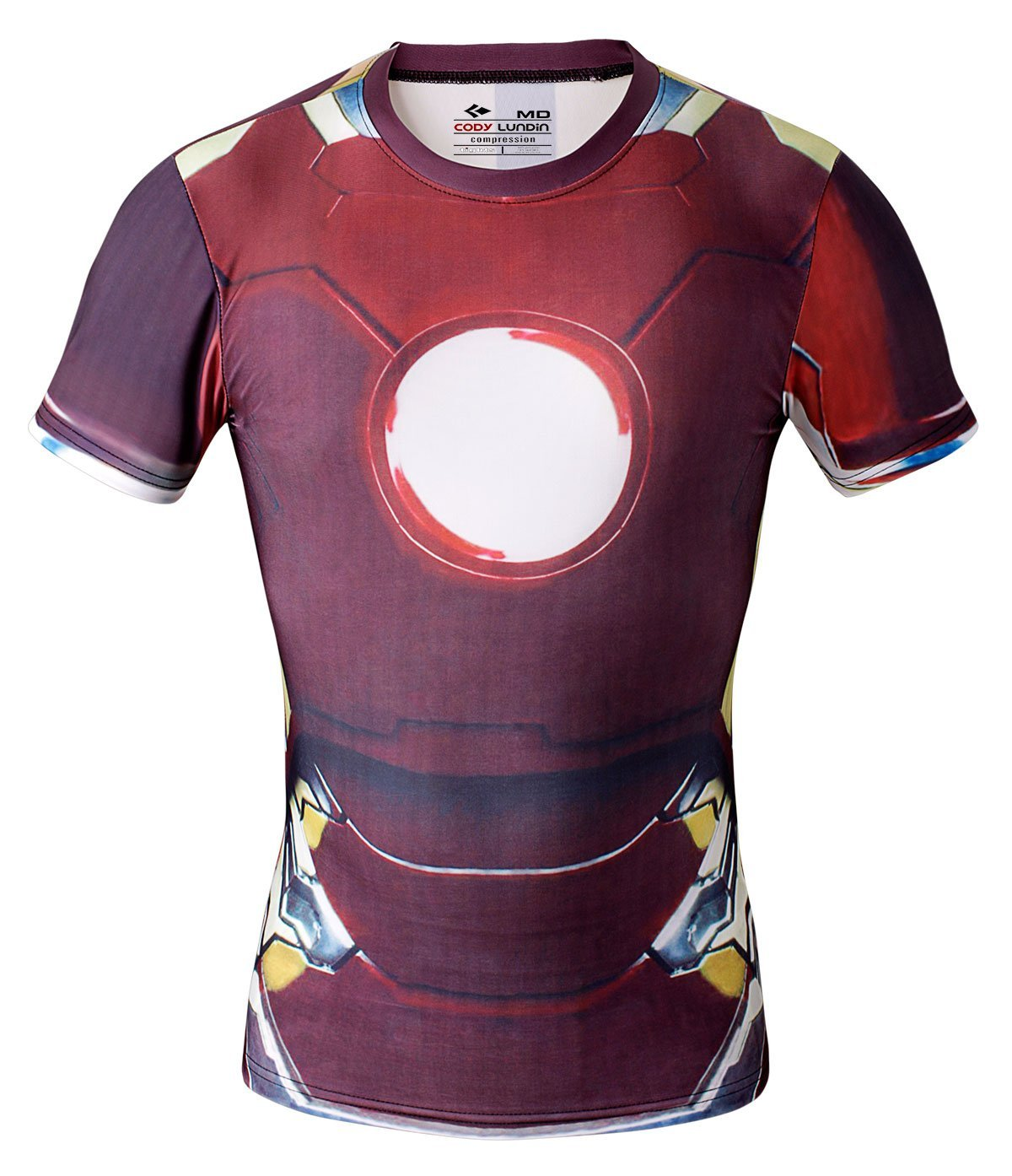 Red Plume Men's Compression Sports Fitness Shirt Armor , Men Iron Man T-shirt(China (Mainland))