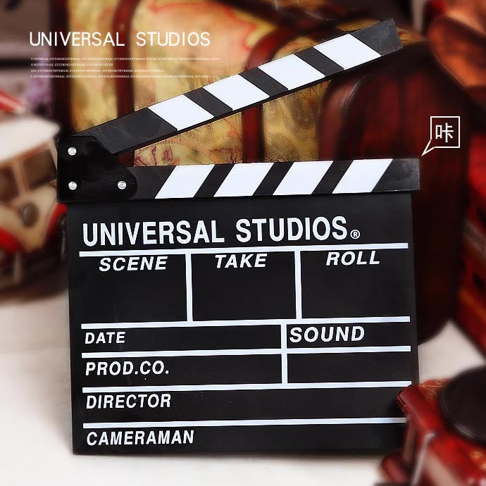 European Style TV Movie Clapper Board Film Slate Cut Prop Director Video Scene Clapperboard(China (Mainland))