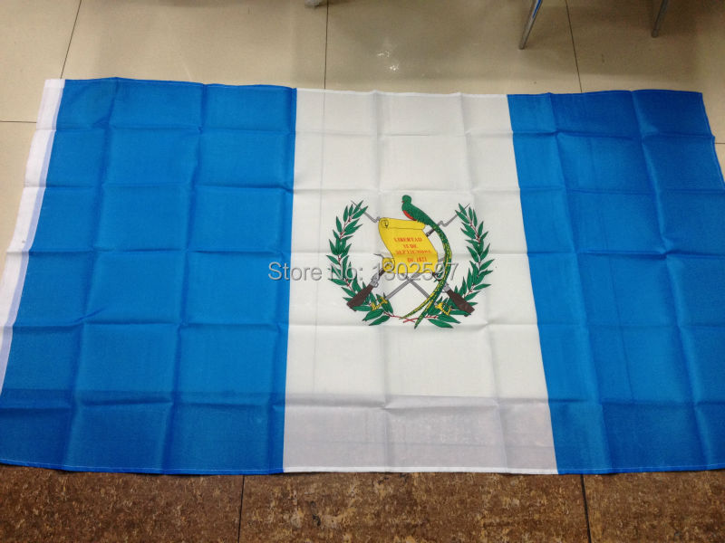 Free shipping 4ft x 6ft Hanging Flag Polyester Guatemala National Flag Banner Outdoor Indoor 120x180cm(China (Mainland))