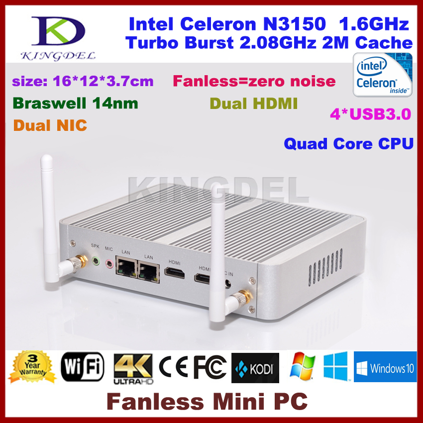 New arrival Intel Celeron N3150 Braswell Mini Computer Fanless Desktop PC, 8GB RAM, 300M WiFi <br><br>Aliexpress