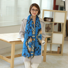 New Arrival Famous Brand Leopard Geometry Design Scrawl Long Rectangle Scarves Shawl 4 Colors Women(China (Mainland))