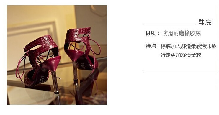 Big Size Women  Sexy  Pointed Toe High Heels Woman Shoes 2015 Brand New Design Baotou  high-heeled sandals w641