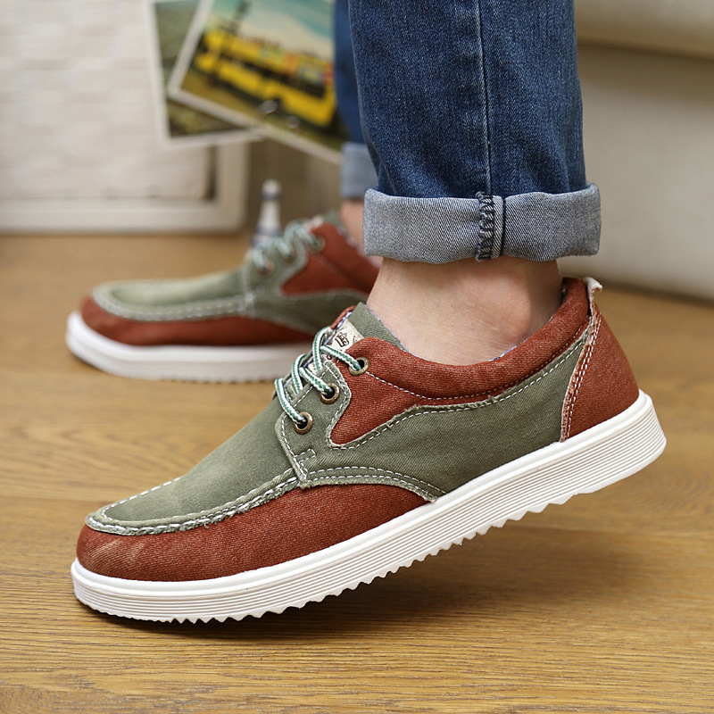 New fashion Spring Trend Korean Mens Casual Canvas Shoes Low side Permeability Male Shoes 39-44<br><br>Aliexpress