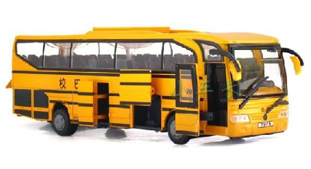 2014 Hot Sale White Red Yellow Pull back 2-4 Years Plastic Simulation Acousto-optic Bus Children Toys Moq:1 Pcs Free shipping(China (Mainland))