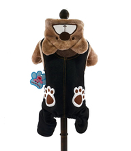 Warm Winter Dog Jumpsuit Cartoon Paws Bear Toroto Hoodies Pet Overalls Small Dog Clothes Outfit XS S M L XL(China (Mainland))