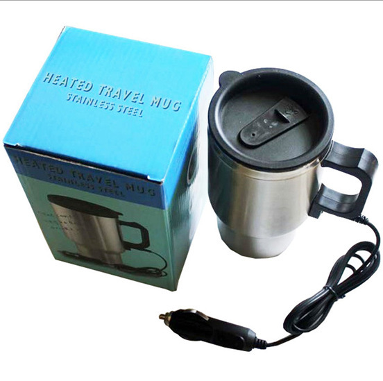 car heater 12v 70W Hot sale 300mL metal Stainless Steel Car Electric heating Cup Hot Water Coffee Tea T-east(China (Mainland))