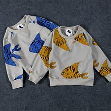 2016 fashion children T shirt mini rodini boys girls Sweatshirt cotton long sleeve baby hoody kids clothes fashion spring autumn(China (Mainland))