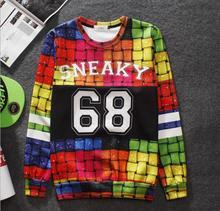 New fashion men/women's pullover unicorn Sika deer 3d hoodies sweatshirts print crewneck animal 3d sweatshirts(China (Mainland))