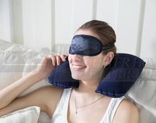 1setCar Air /U Cushion Air Travel Soft Neck Pillow + eye mask + 2 Ear Plug Hot Search  new arrival(China (Mainland))