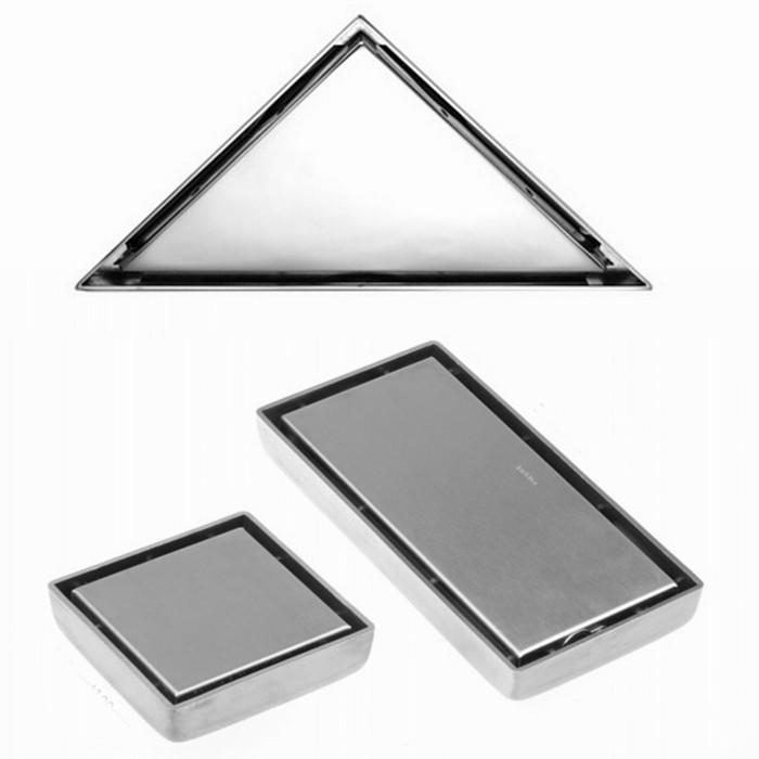 Free shipping 304 stainless steel Floor Drain square or rectangle or triangle Invisible anti-odor floor waste floor drain<br><br>Aliexpress