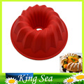 Bundt Ring Silicone Bakeware Mould Cake Pan Bread Pastry Tin Baking Mold Tool Home Kitchen Supplies