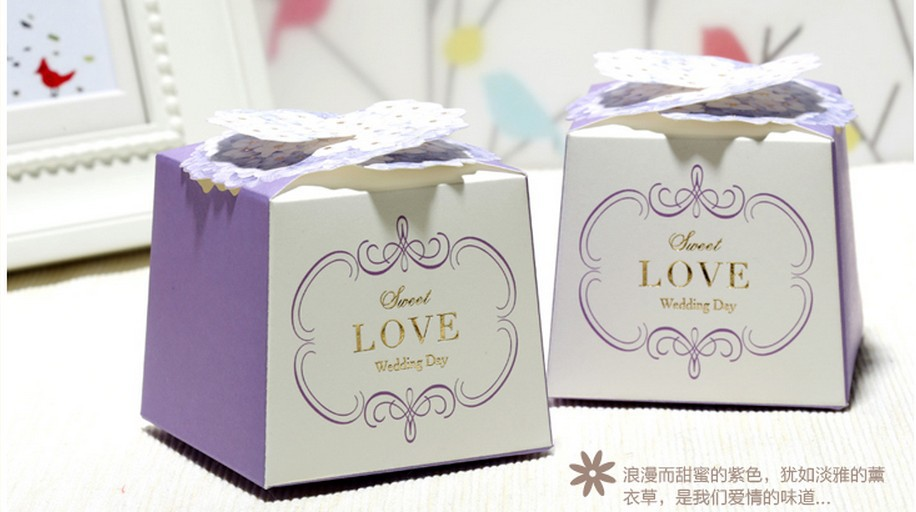 New Wedding Favor Ideas 2015 : 2015 Wholesale New 100pcs Wedding packaging Gift Boxes & Wedding Favor ...