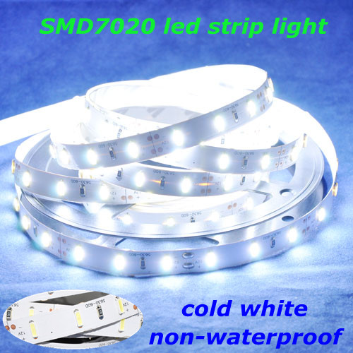 High Bright 5M 60leds/m 300leds 25-35Lumen Non-waterproof DC12V SMD7020 Flexible LED Strip Light Cool White Decoration - World Uniqueen International Co.,Ltd store