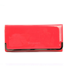 2015 Hot Fashion Women Wallets handbag solid PU Leather Long bag cheap famous clutch Lady brand red Cash phone card coin Purse