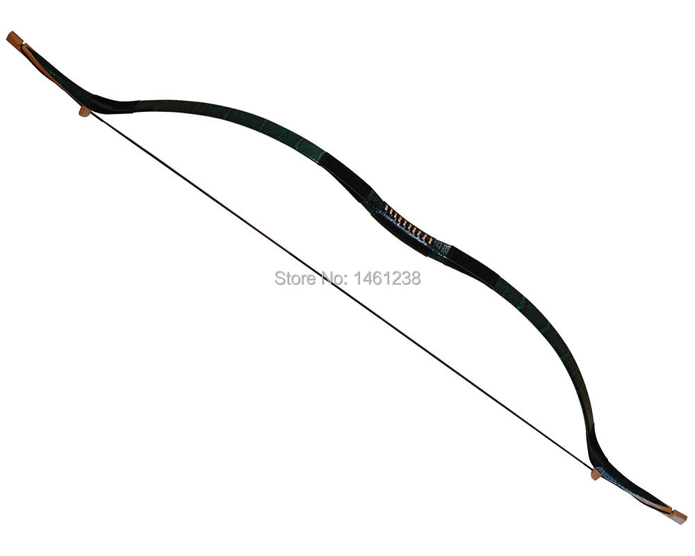 Real Bow And Arrow 70lbs archery Green snakeskin
