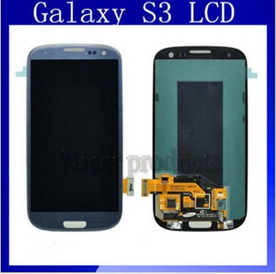 Replacement Parts For Samsung Galaxy s3 i9300 i747-t999 LCD With Touch Screen Blue Color(China (Mainland))