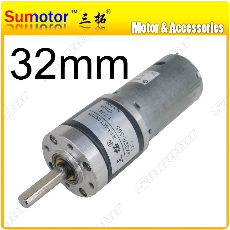 Gx32 d 32mm 12v high torque low rpm dc planetary geared for Low rpm dc motor