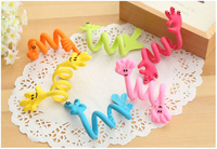 24pcs Novelty Item Hand Gesture Mobile Phone Cable Winder Earphone Cable Reel Wire Holder Cord Protector Best Promotion GiftQQ18