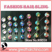byu Hair Net will get a Gift Fashion Hair Extension Bling / Crystal Hair Jewelry 350packs/lot Wholesale / Retail Free Shipping
