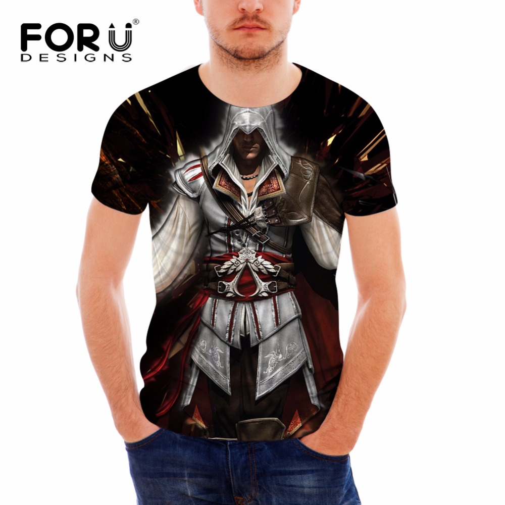 FORUDESIGNS 3D Metallica Stylish Vikings Print T shirt Men Tops Tee Bodybuilding 2017 Trendy Casual T-shirts Summer Soft T Shirt(China (Mainland))