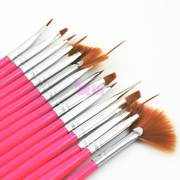 Nail art toiletry kit crystal pen light therapy pen finger carved brush colored drawing pen white washing brush 15 piece set