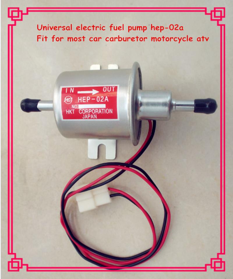 High quality universal diesel petrol gasoline electric fuel pump HEP-02A 12V low pressure fuel pump carburetor motorcycle ATV(China (Mainland))
