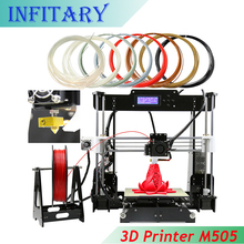 220*220*240mm 3D printer Reprap prusa i3 DIY kits I3 Aluminium Extrusion melzi Mainboard 1roll filament 8GB SD card for free