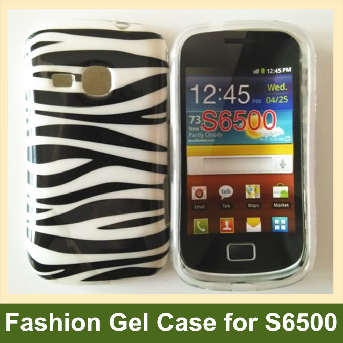 For Samsung Galaxy Mini 2 Case Polka Dots Zebra Pattern Soft TPU Gel Cover Case for Samsung Galaxy mini 2 S6500 Free Shipping(China (Mainland))