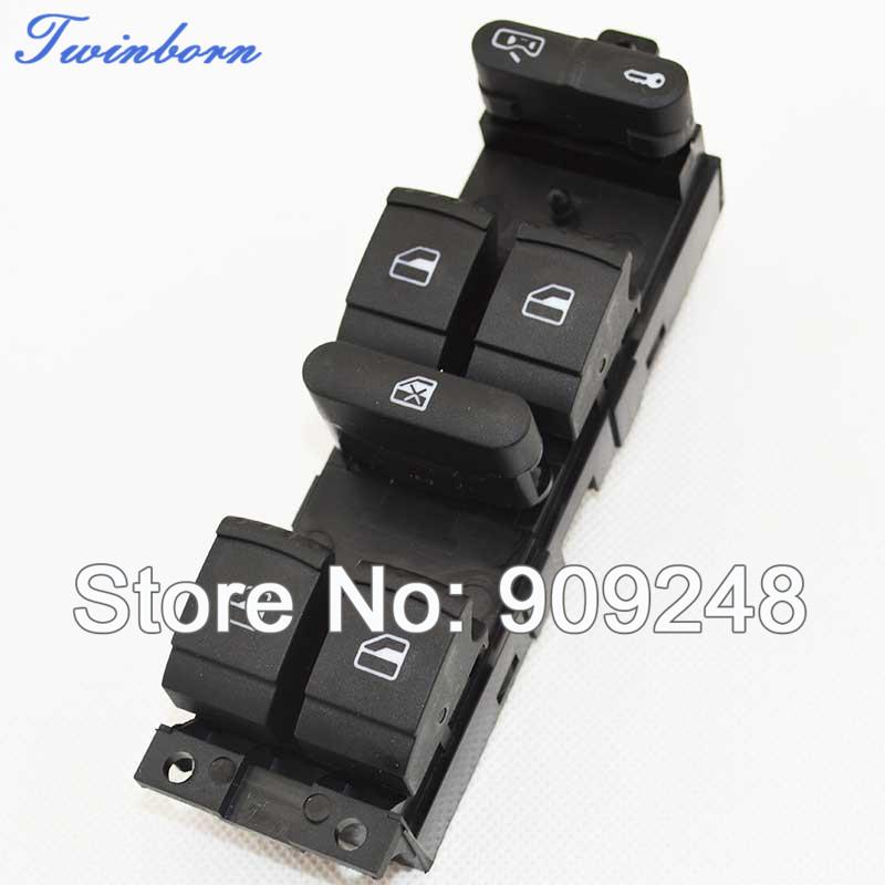 VW Golf Jetta Mk4 Passat B5 00 01 02 03 Window Master Switch Knob Control 1J4 959 857 - TwinBorn Auto Accessory store