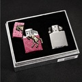 2 in 1 kerosene charging windproof lighter creative cigarette smoking lighters for men Gift