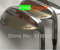 New model Brand golf wedges S M  5 Golf clubs 52/56/60 3pc/set Steel shaft Champagne Golf Club With Head Cover Free Shipping