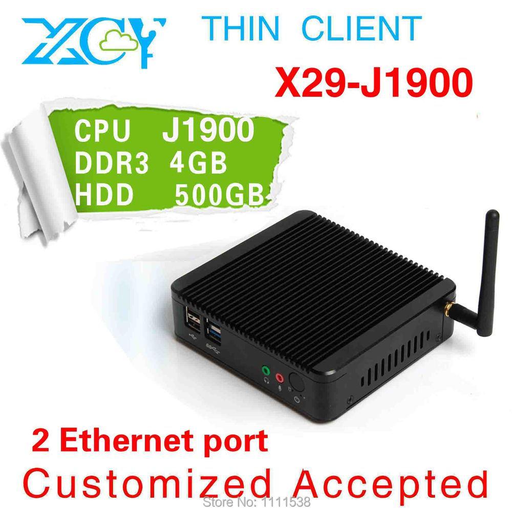 Desktop Computer Mini ITX Casing HTPC Intel Quad Core j1900-2 4GB DDR3 500G HDD embedded computer(China (Mainland))