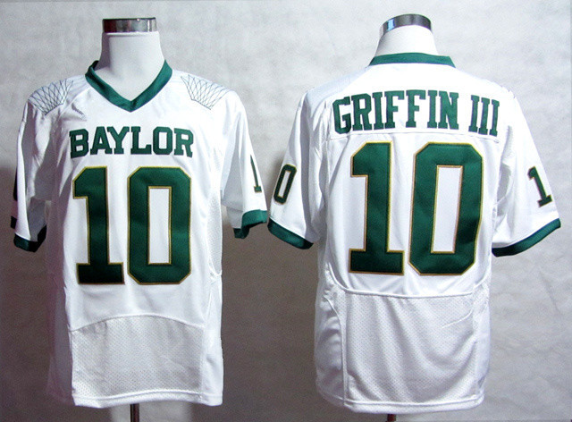 Free Shipping Baylor Bears #10 Robert Griffin III American baseball jersey NCAA cheap good quality jersey Size:M-XXXL(China (Mainland))