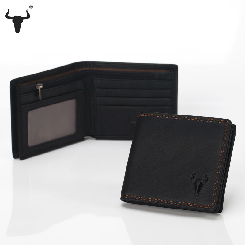 Genuine Leather Men Wallets Zip Coin Pocket Retro Design Style Purse Short Fold Wallet Mens Zipper Bag Multifunction ID Window(China (Mainland))