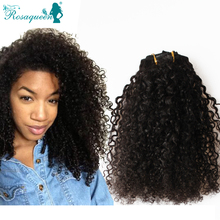 Kinky Curly Clip In Hair Extensions Natural Hair 3B 3C African American Clip In Human Hair Extensions 120g 7Pcs/set Clip Ins(China (Mainland))