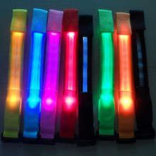 2015 Top Fashion Real Sphero Primarch Led Toy Led Luminous Wrist Length Belt Fiber Optic Hand Ring Strap Flash Bracelet Running (China (Mainland))