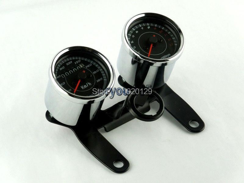 Motorcycle Speedometer Odometer+ EFI Tachometer Speedo meter Tacho With Bracket