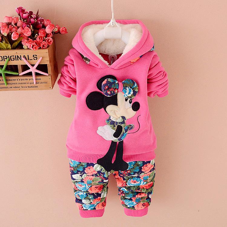 2015 baby girls clothing set lambwool hoodie childrens sweater thicken floral pants winterkleid baby toddler girl set infantil<br><br>Aliexpress