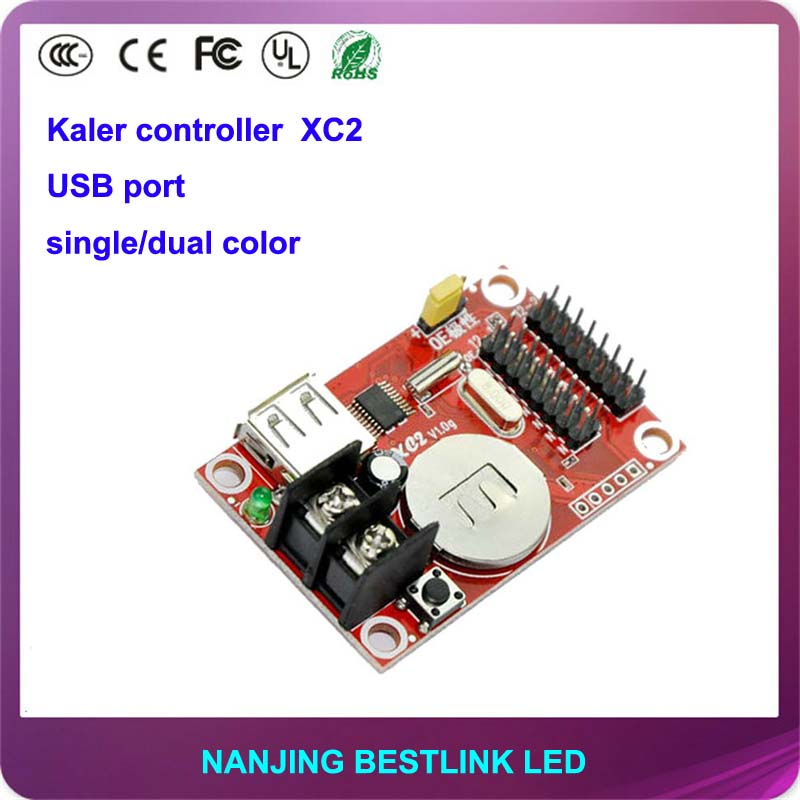 cheap price led controller card xc2 32*320 pixel led control card supply for p10 led sign board message sign outdoor advertising(China (Mainland))