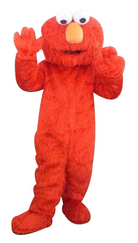 Factory direct selling high quality Long Fur Elmo Mascot Costume Character Costume Cartoon Costume Elmo Cosplay Free ShippingОдежда и ак�е��уары<br><br><br>Aliexpress