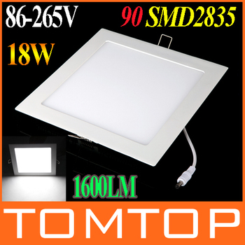 Pure White 18W 1600LM led bulb AC 86-265V Ultra Thin Square Ceiling Panel Light Wall Recessed Down Lamp SMD2835 led downlight