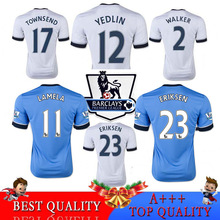 2016 tottenhames jersey Home White away blue tottenham 1516 jerseys Kane ERIKSEN Lamela Tottenham Ador Spurs Football Shirts(China (Mainland))