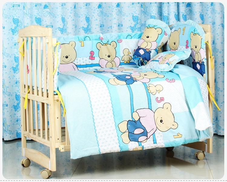 Promotion! 10PCS Bedding sets baby bedding set 100% cotton Baby Girls Cotton butterfly curtain (bumpers+matress+pillow+duvet)<br><br>Aliexpress