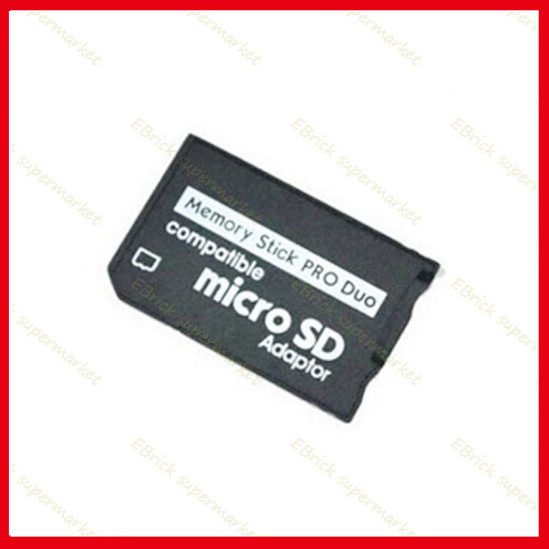 2pcs tf to ms card holder replacement For SONY PSP Memory Stick Micro SD Adaptor 32g(China (Mainland))