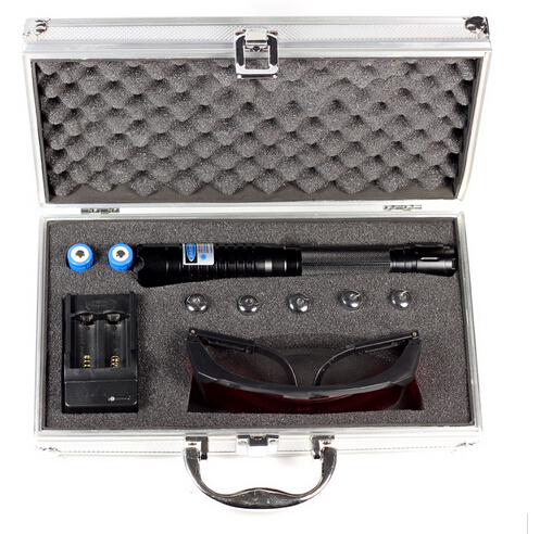 High Power 50000mw 450nm Blue Laser Pointer Pen Military Light Beam Burn Match Paper lit cigarette laser pen with glasses<br><br>Aliexpress