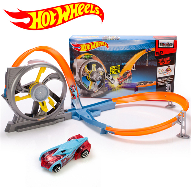 Authorized sales Hot Wheels Roundabout track toy kids toys Plastic metal miniatures cars track model X9285 classic boy toy car